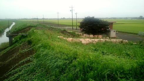 川崎排水機場近くの堤防決壊箇所復旧工事3